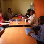 Judy Duncan, ACORN Canada, sharing with ACORN International Kenya Organziers