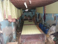 Traditional wood print textile designs still being made in Dharavi