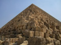 quarried edges of Great Pyramid at Giza
