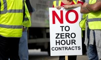 Workers at the Hovis (Premier Foods) bakery protesting against zero-hours contracts