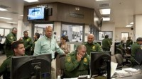 Homeland Security Secretary Jeh Johnson visits a facility in Texas near the border with Mexico. (U.S. Department of Homeland Security)