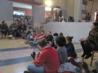 the meeting with other groups in the officine tarantine space