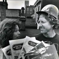Larry Evans and Leslie Byrd Evans, then his wife, in 1981.