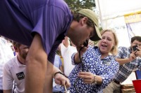 Senator Mary Landrieu at Tailgate Party before LSU Game