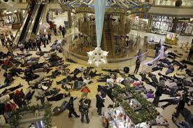 """die-in""at a Missouri mall"