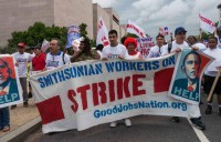 Contact Workers at the Smithsonian protest in 2013