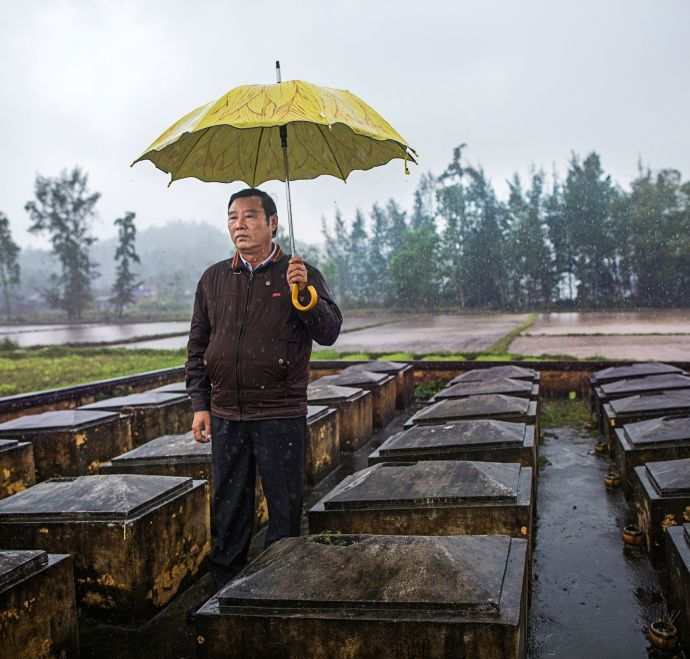 "Pham Thanh Cong, the director of the My Lai Museum, was eleven at the time of the massacre. His mother and four siblings died. ""We forgive, but we do not forget,"" he said.Credit Photograph by Katie Orlinsky"