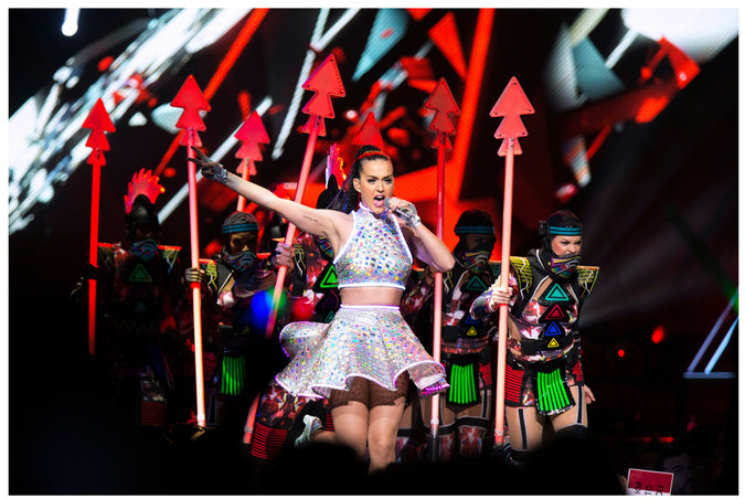 Katy Perry, seen here at Madison Square Garden in New York City in July 2014, has worked with the Swedish producer Klas Ahlund (featured in Stalls). Credit Brian Harkin for The New York Times