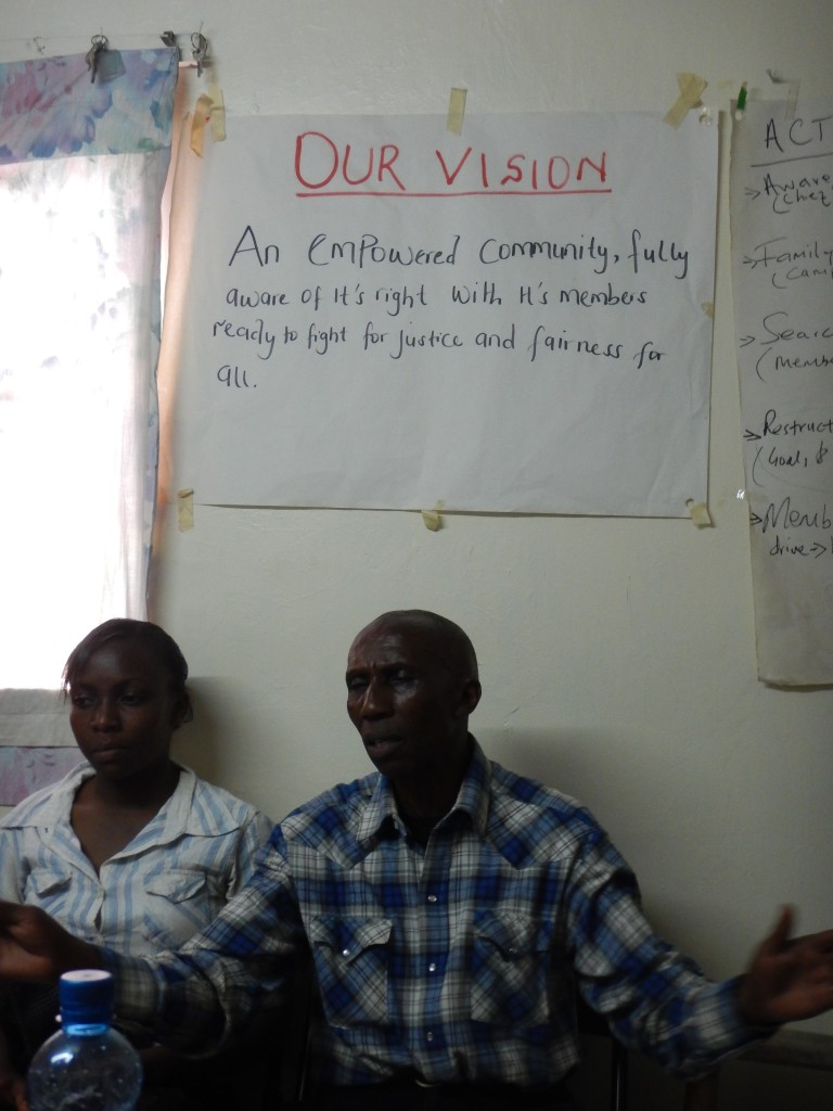 Daniel Kairo head of ACORN Kenya under our mission statement