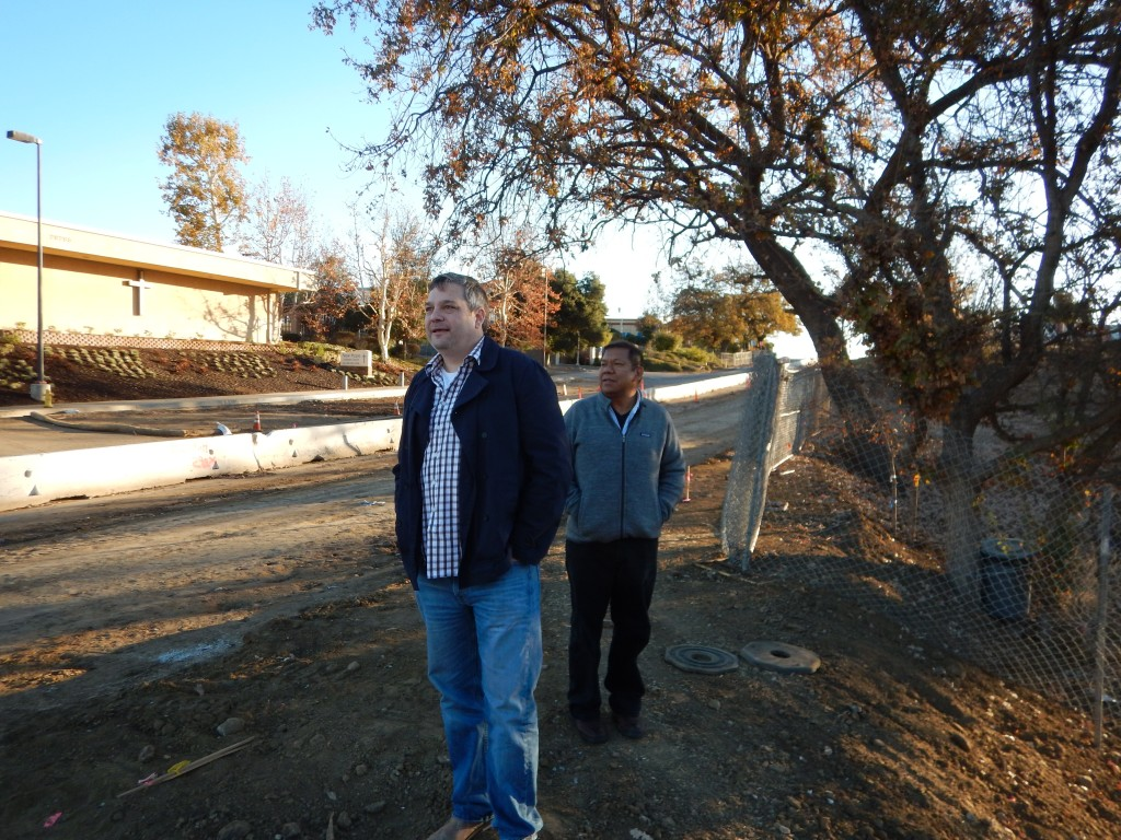 Nik Theodore and Pablo Alvarado looking at the site