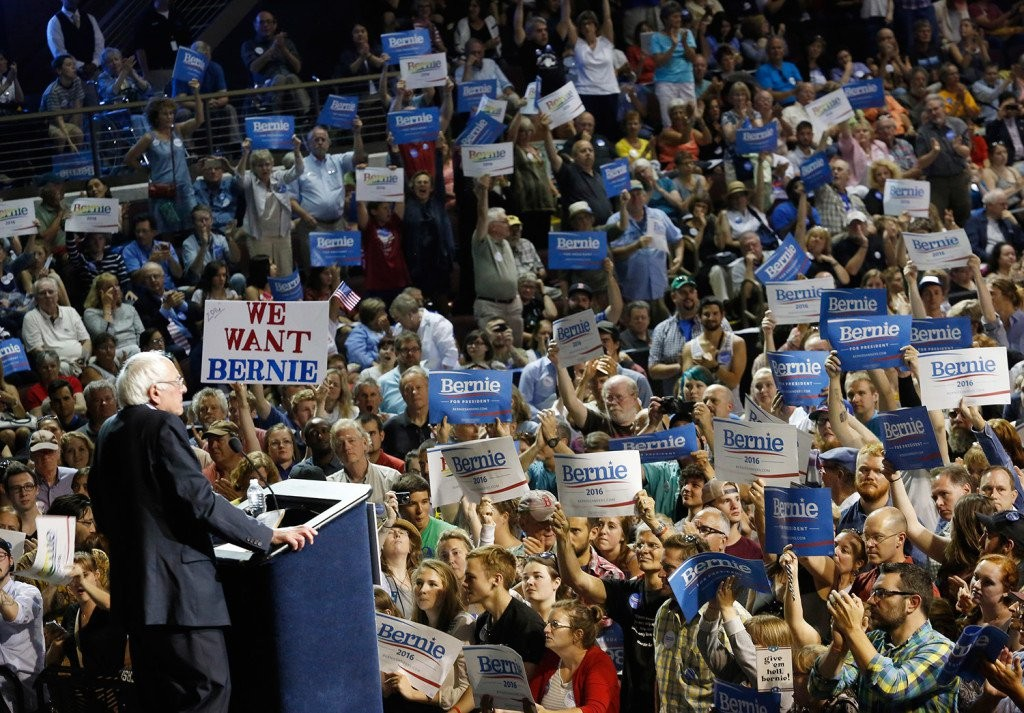 Bernie Sanders campaign appearance in Portland last summer. Bukaty/Associated Press