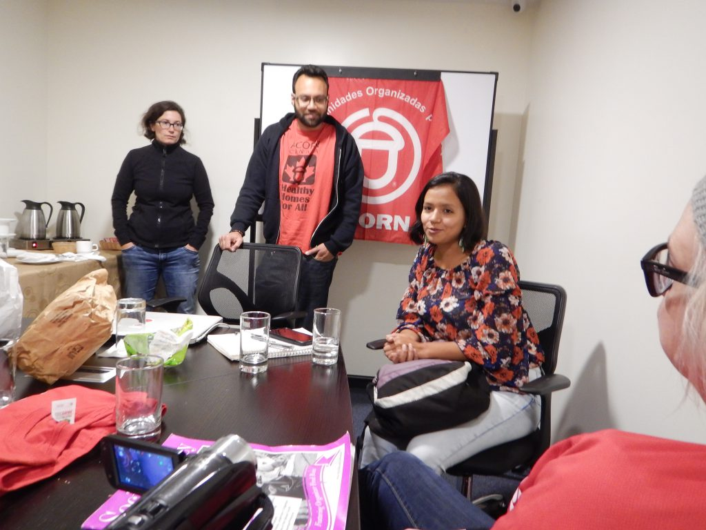 Olivia Zuniga Caceres with ACORN Organizers in Quito