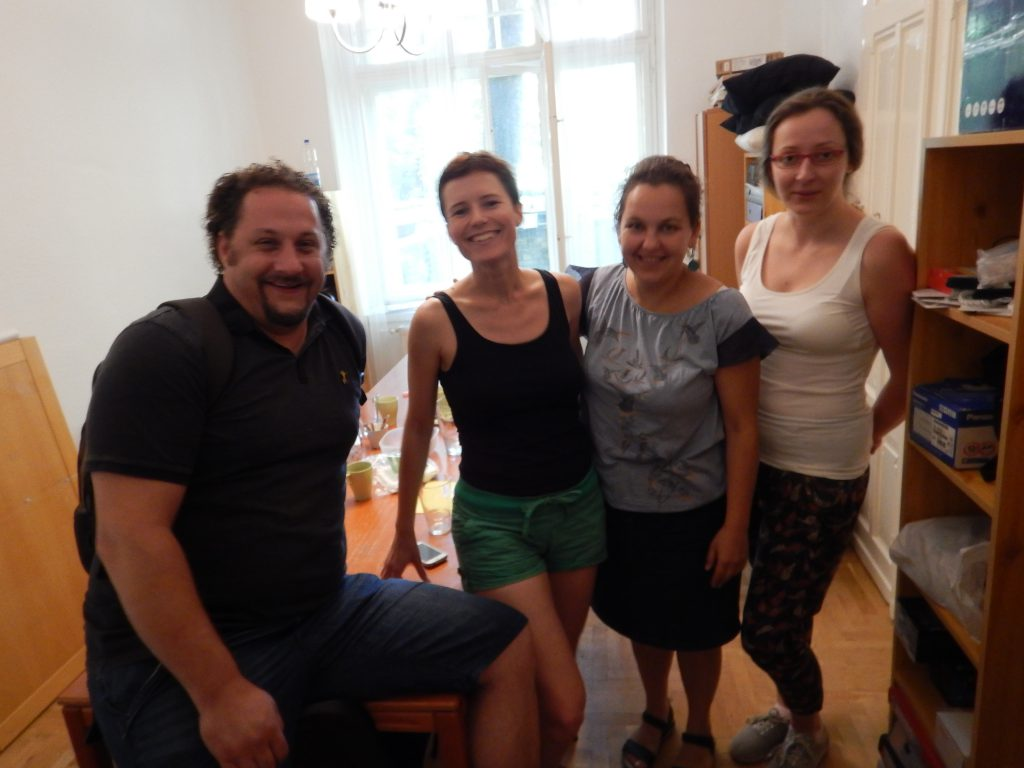 with the organizers of the Hungarian Anti-Poverty Network