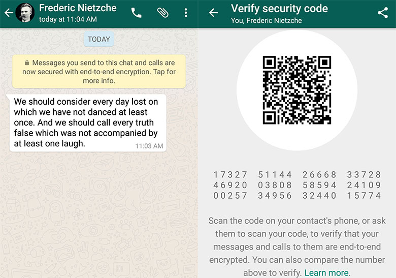 Signal-encryption of WhatsApp