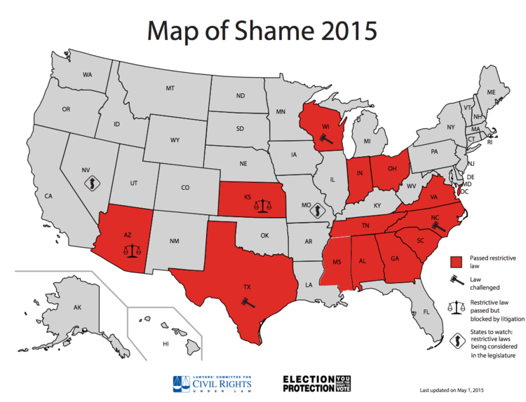 summarize recent development in several states enacting voter id laws Summarize each of summarize recent developments in several states enacting voter id laws summarize recent developments in several states.