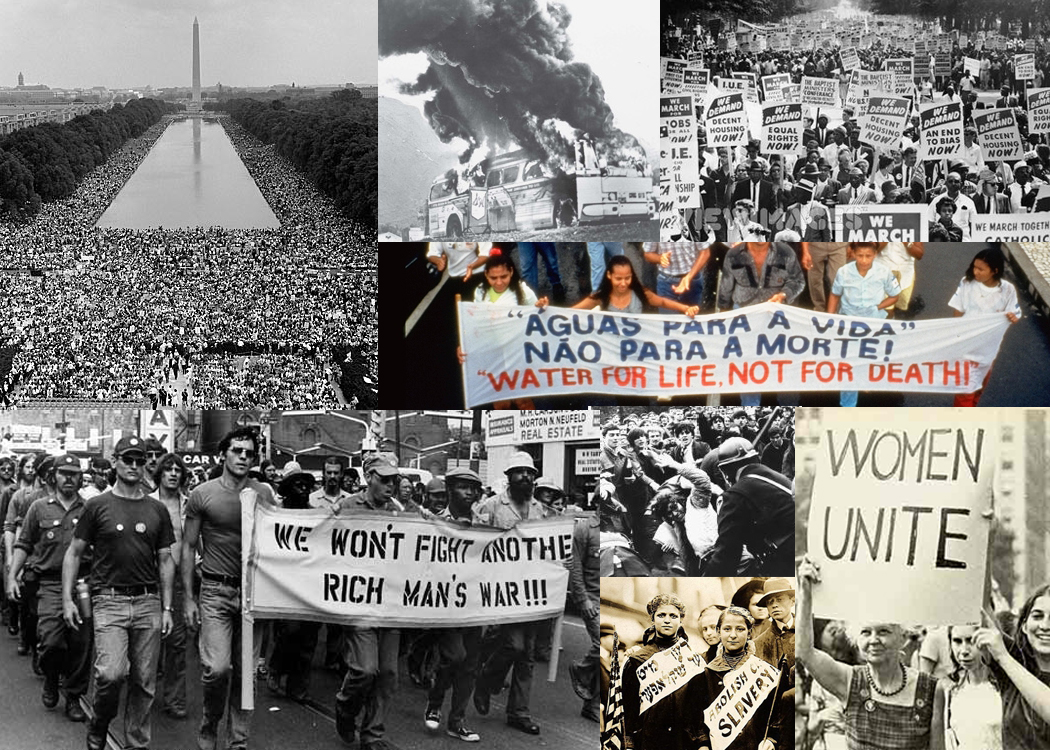 social movement Social movement, loosely organized but sustained campaign in support of a social goal, typically either the implementation or the prevention of a change in society's structure or values although social movements differ in size, they are all essentially collective.